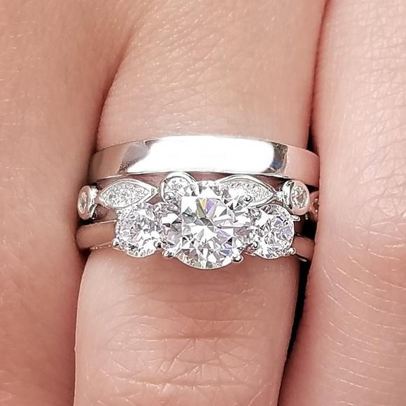 Sakony Jewelry Jewelry 3 Pc Engagement Wedding Anniversary Band